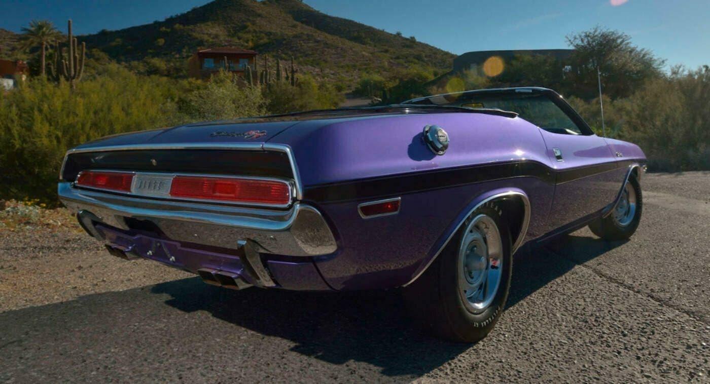Dodge Challenger R/T Cabrio 1970 viola asta