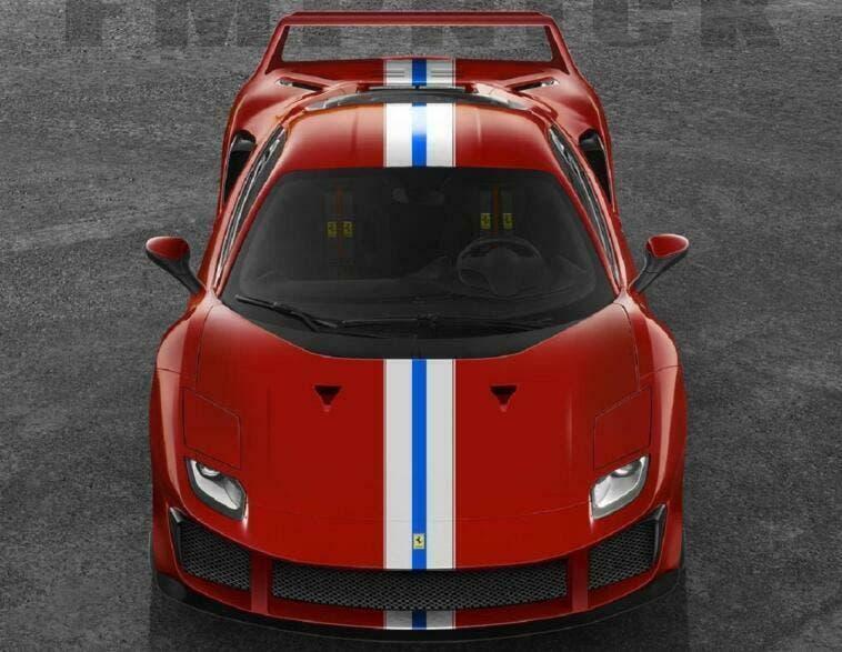 Ferrari 488 Pista aerodinamica F40 render
