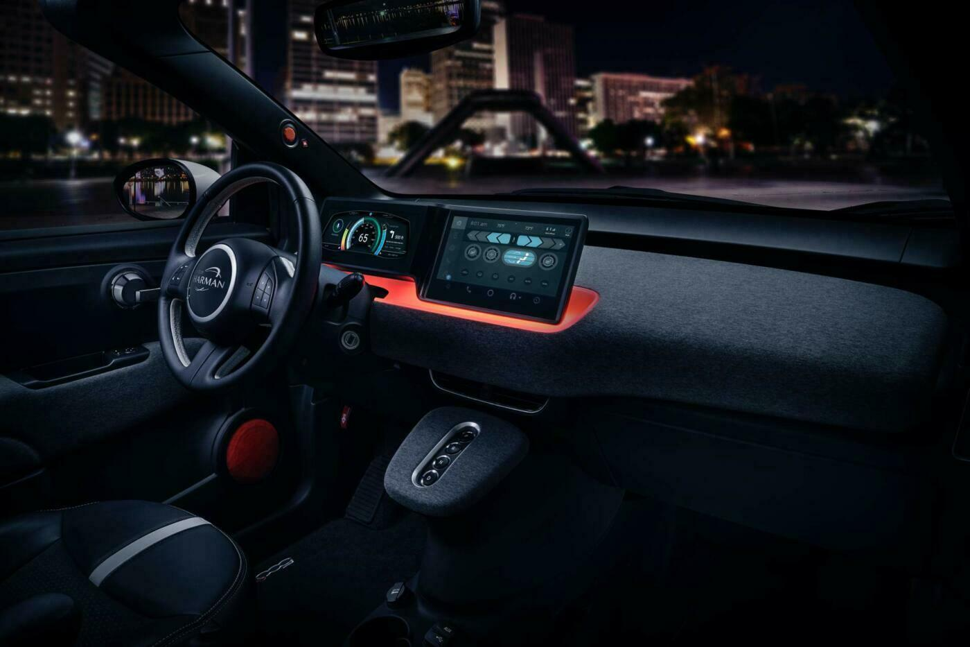 Fiat 500e Harman International CES 2019
