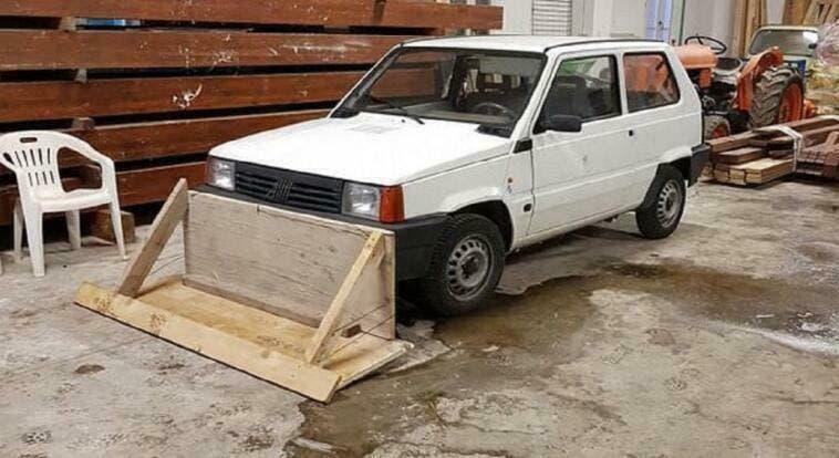 Fiat Panda spazzaneve fai-da-te