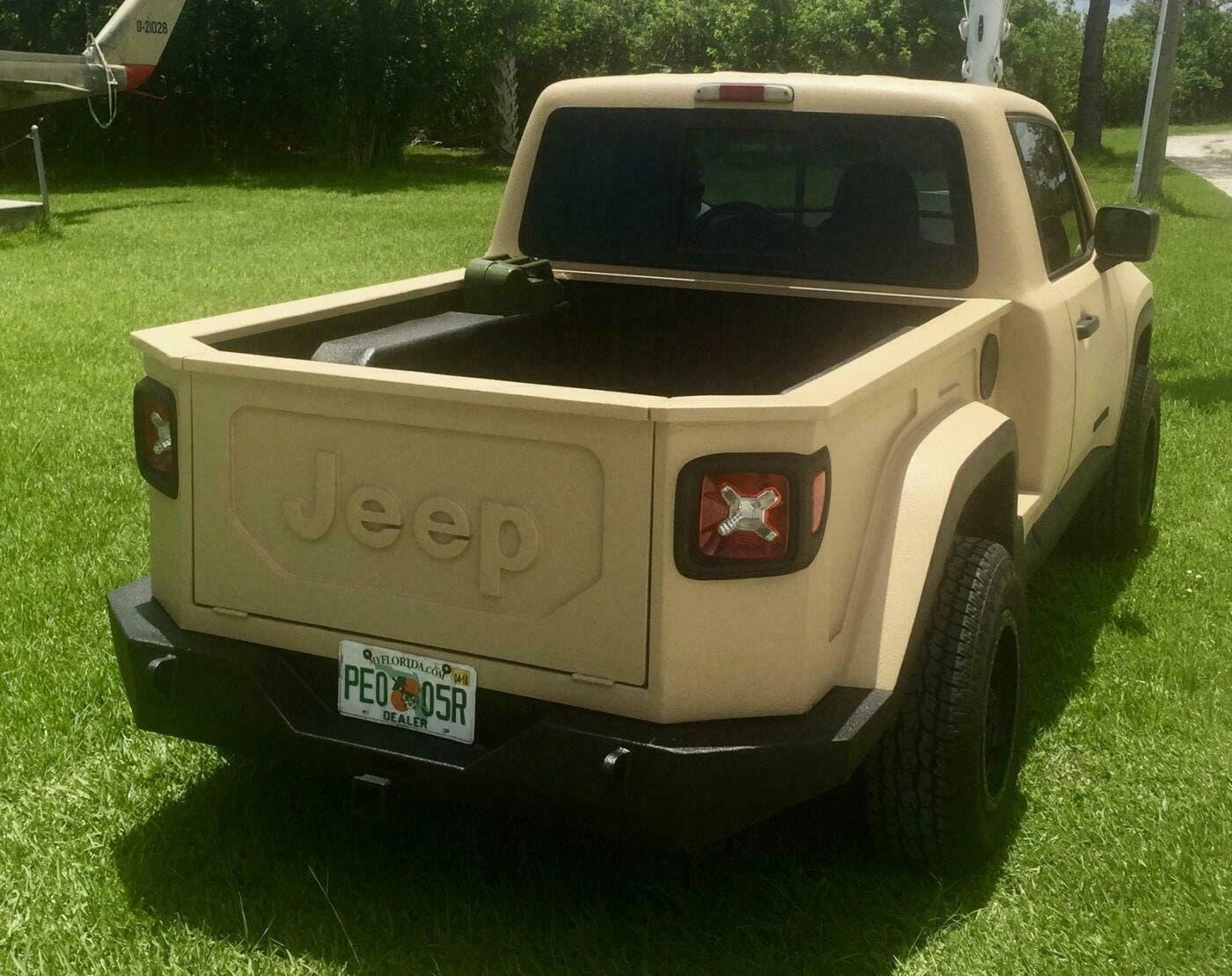 Jeep Renegade: ecco un mini Gladiator ipotizzato in render ...