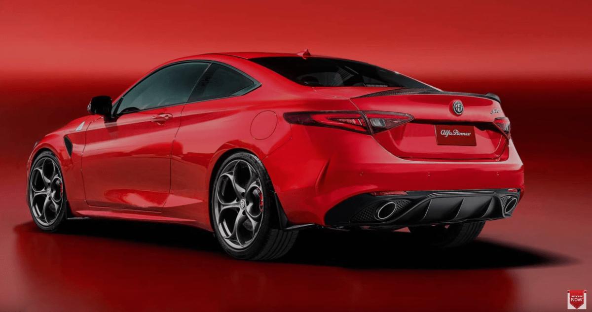 Nuova Alfa Romeo GTV render rossa