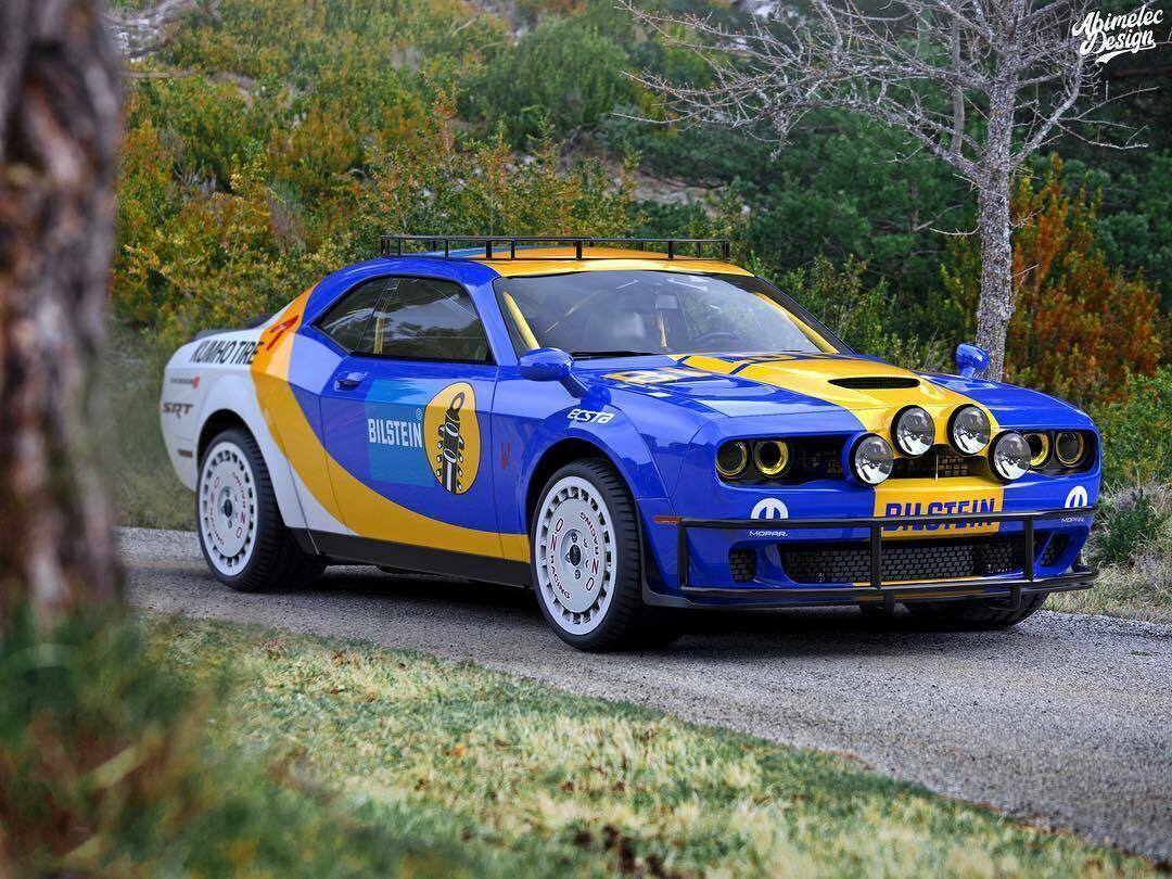 Dodge Challenger SRT Hellcat Redeye rally render