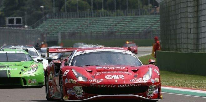 Ferrari 488 GT3 primi giri in pista Villeneuve