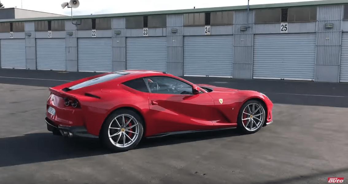 Ferrari 812 Superfast test Nurburgring video