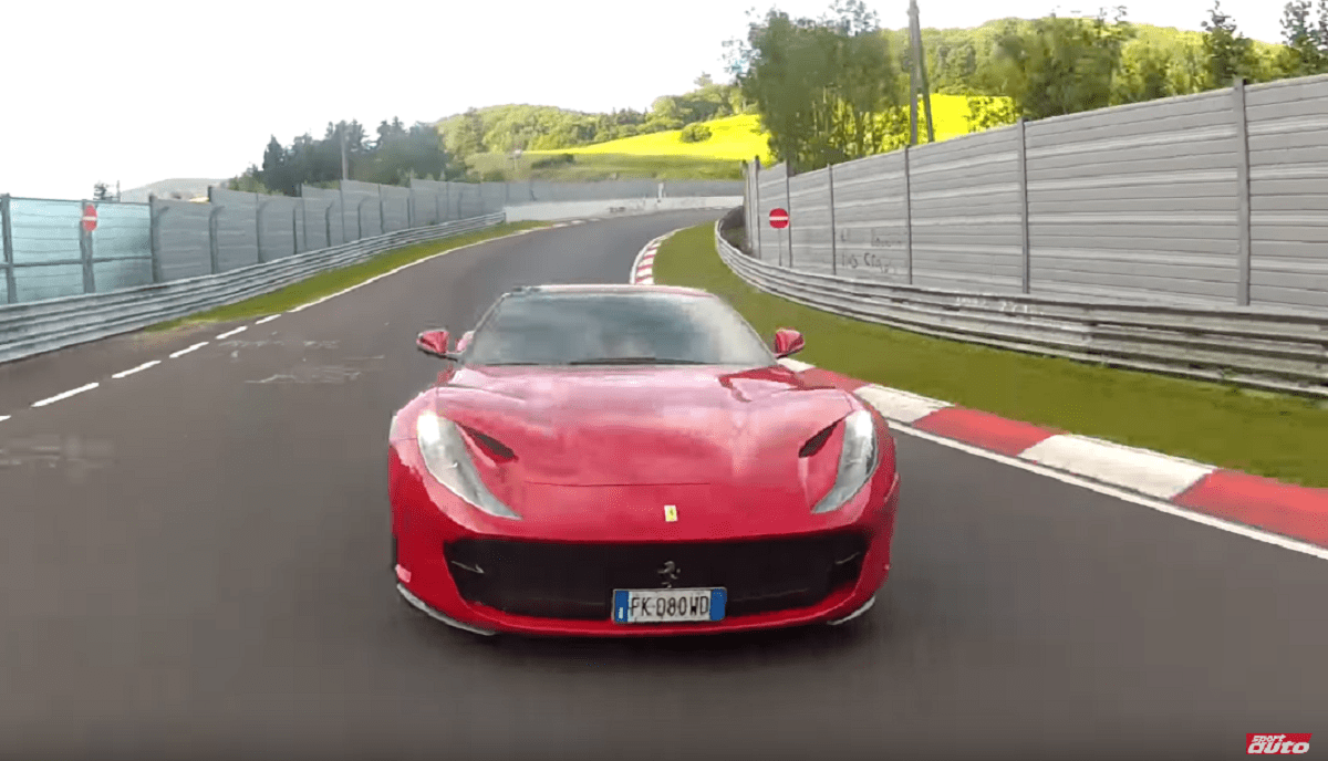 Ferrari 812 Superfast test Nurburgring video