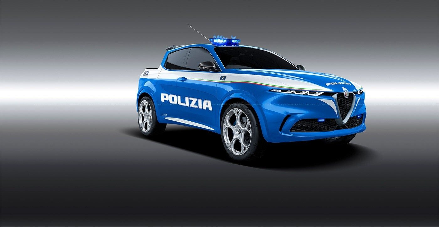 Alfa Romeo Tonale livrea Polizia render