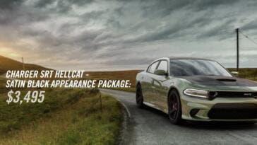 Dodge Charger SRT Hellcat pacchetto Satin Black