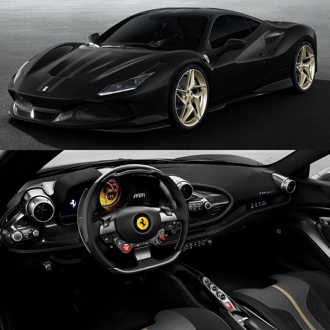 Ferrari F8 Tributo render Azzurro Dino