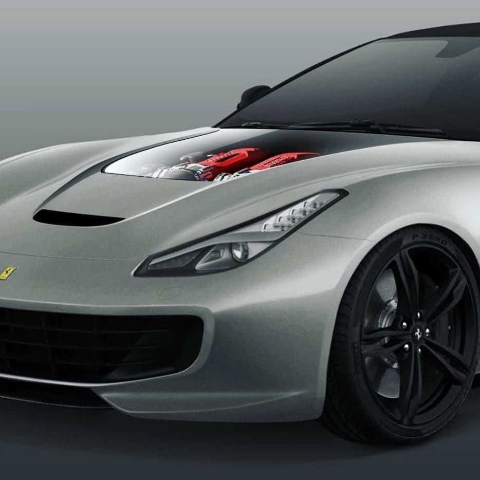 Ferrari GTC4Lusso T cofano trasparente