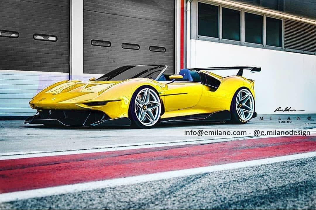 Ferrari P80/C Spider render