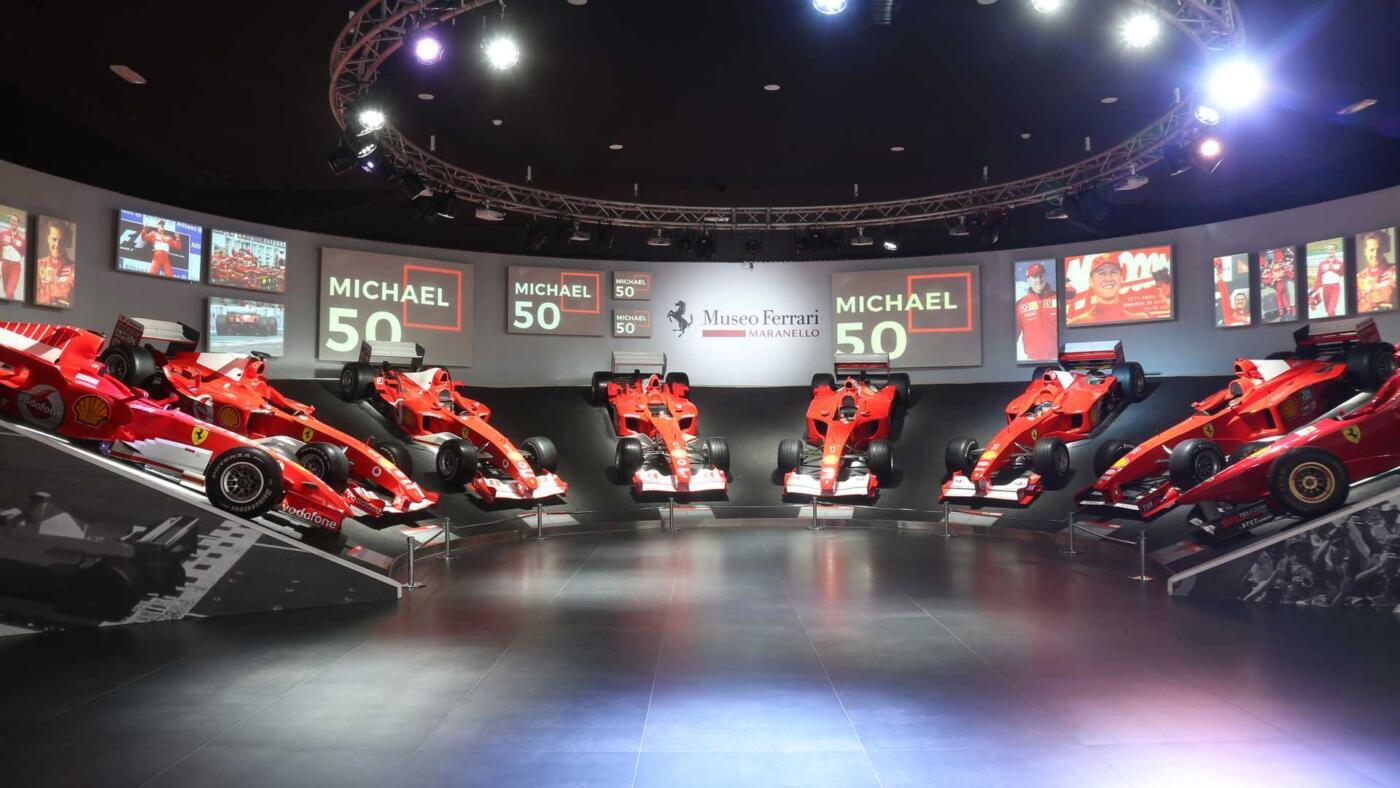 Ferrari mostra Michael 50 30 aprile