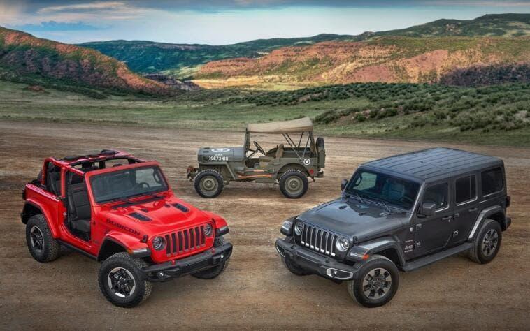 Jeep Wrangler 2018 richiamo esemplari Australia