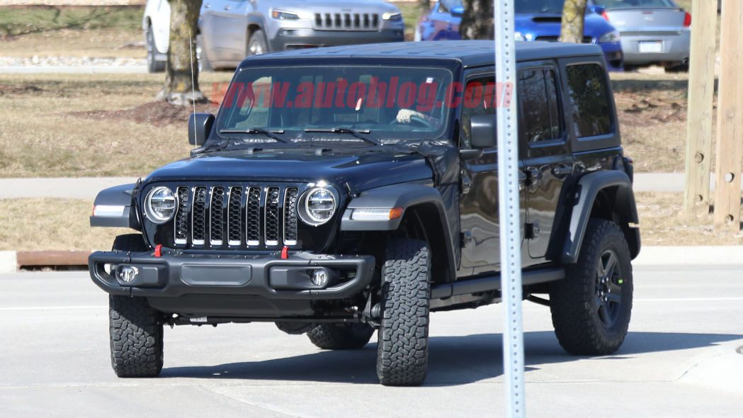 Jeep Wrangler PHEV prototipo scatti spia