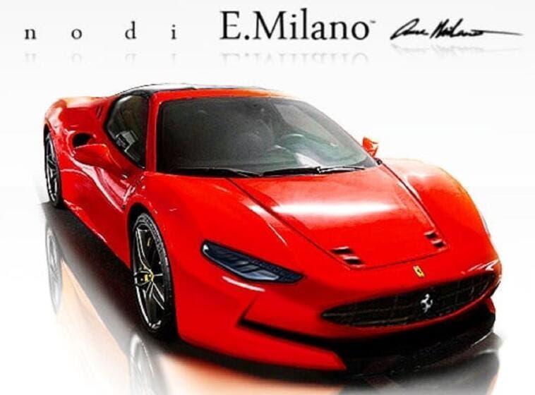 Nuova Ferrari Dino E. Milano render