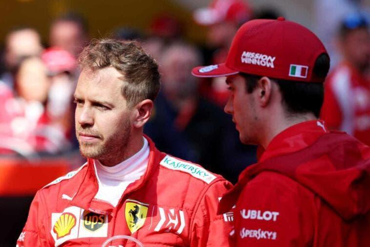Vettel e Leclerc - Ferrari