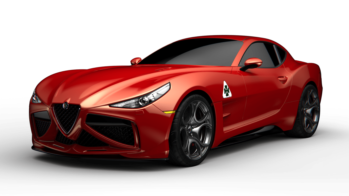 Alfa Romeo Coupé concept render