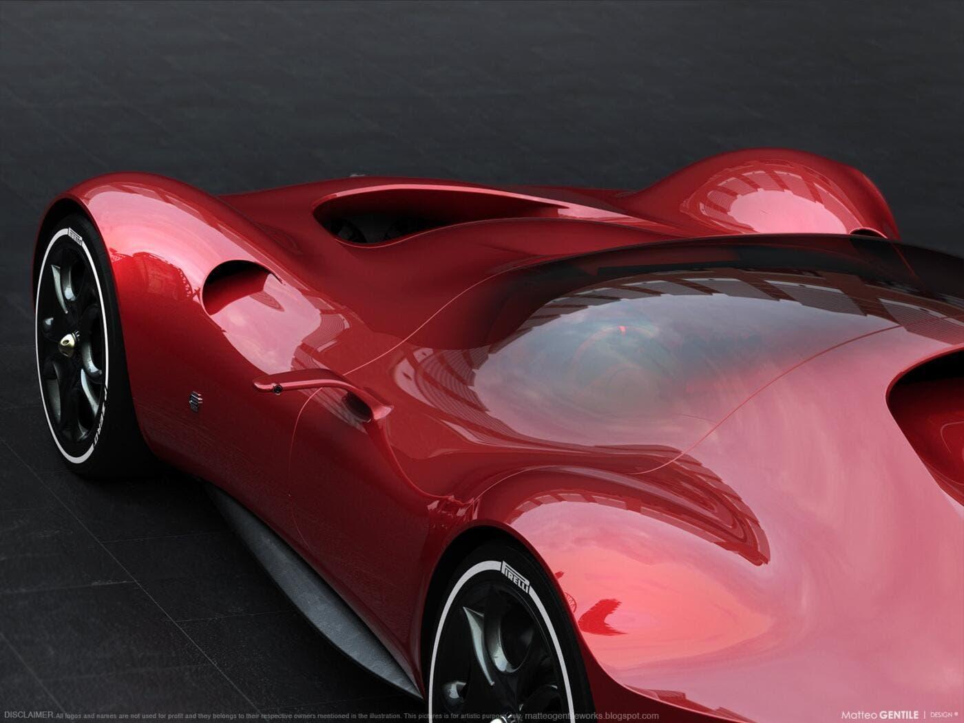Alfa Romeo Gtl Evo concept Supercar render