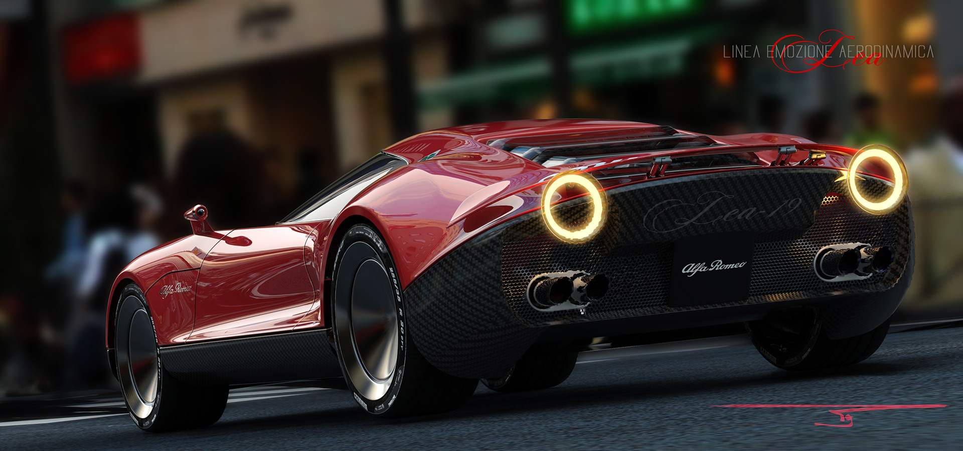Alfa Romeo LEA concept render