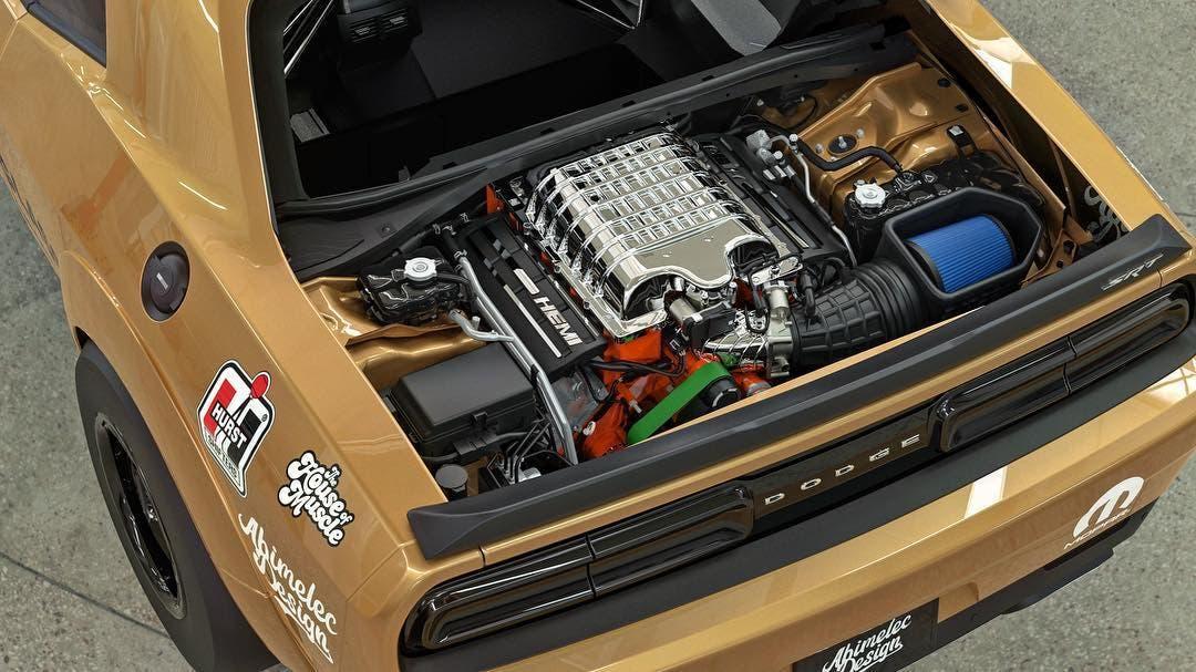 Dodge Challenger SRT Demon Hurst Hemi Under Glass render