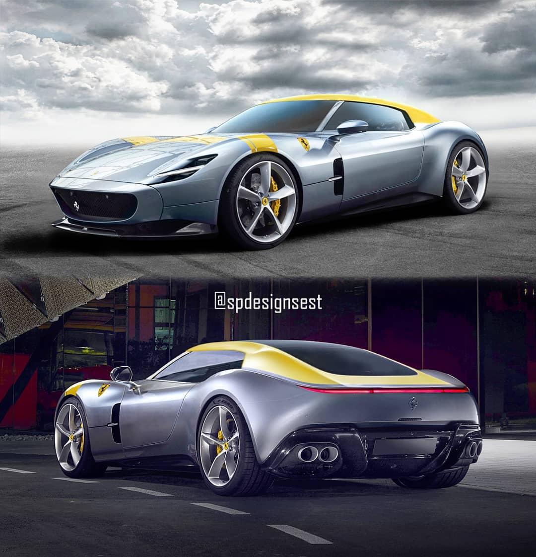 Ferrari Monza Coupé render