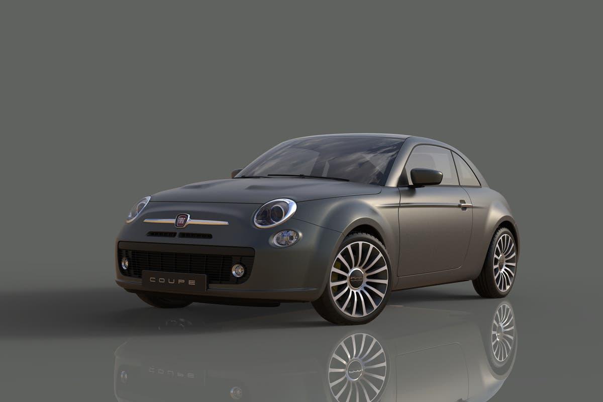 Fiat 500 Coupé render