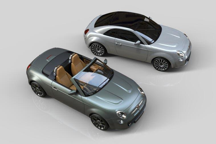 Fiat 500 Spider Coupé render