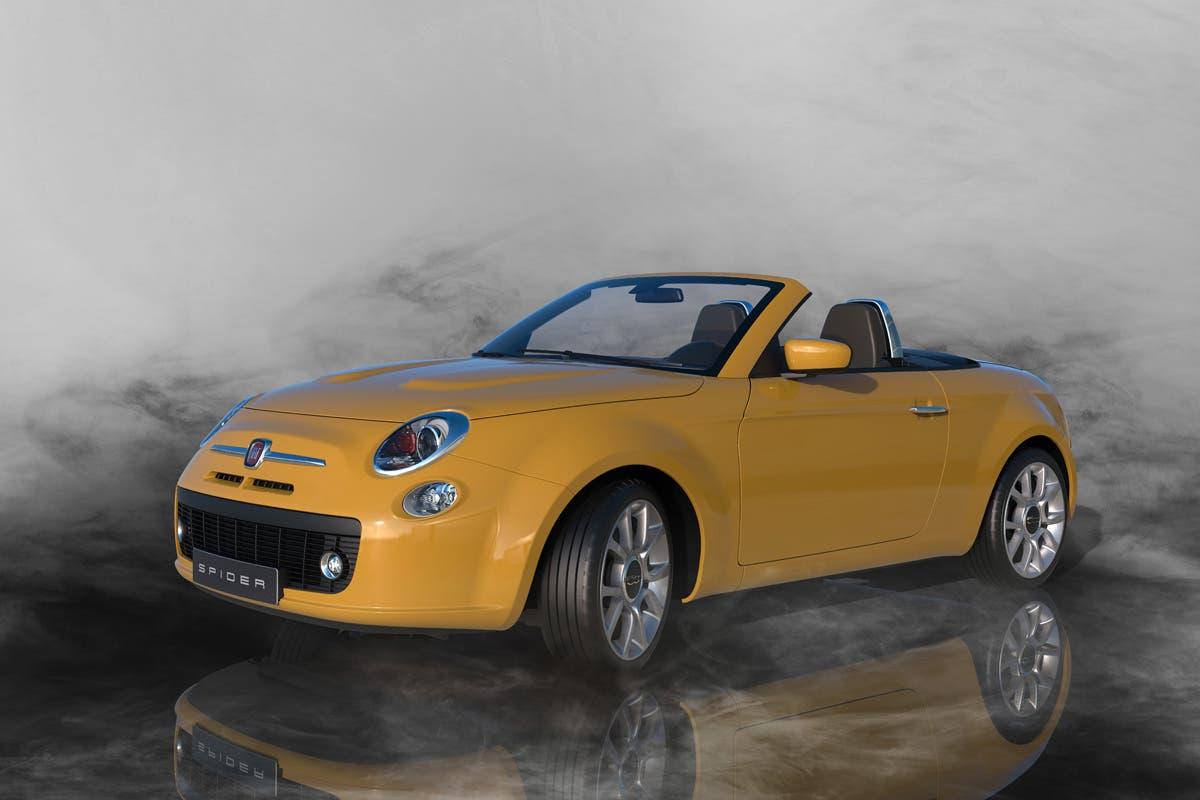 Fiat 500 Spider render