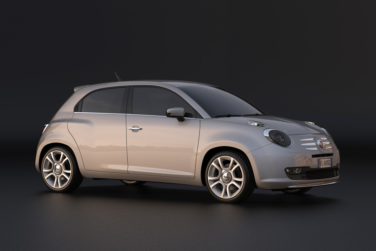 Fiat 600 moderna render