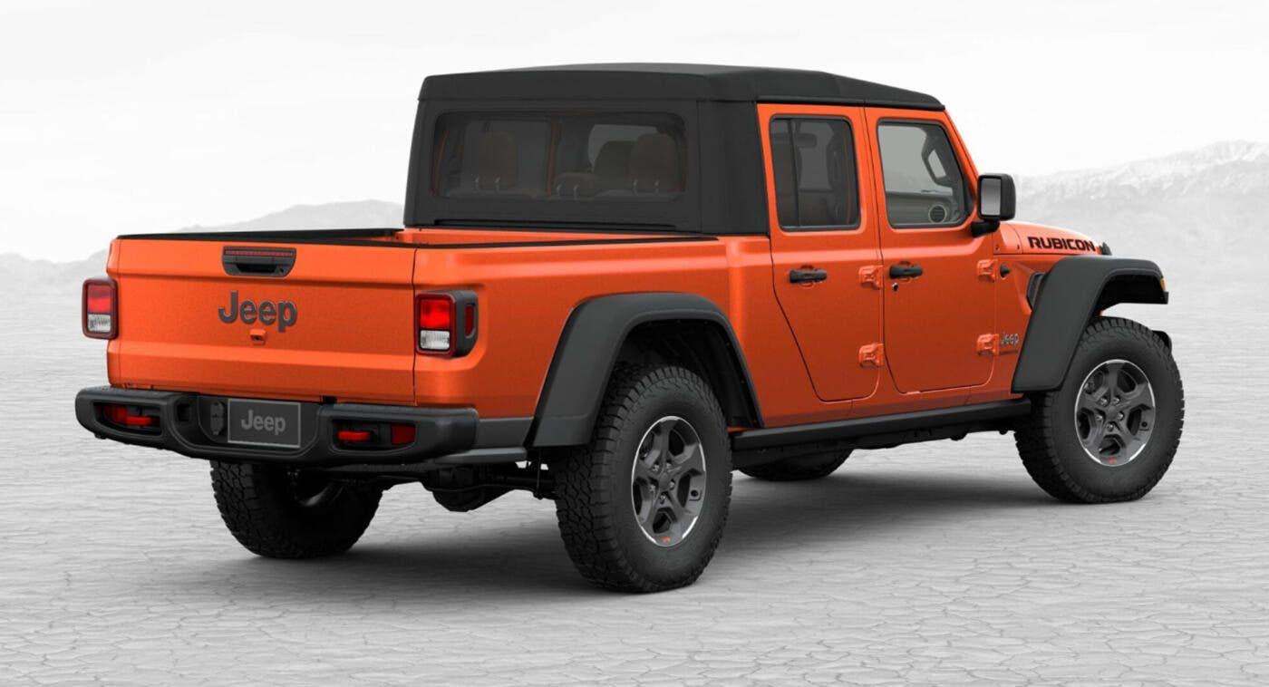 Jeep Gladiator 2020 Rubicon equipaggiamento