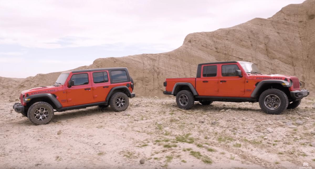 Jeep Gladiator vs Wrangler confronto video