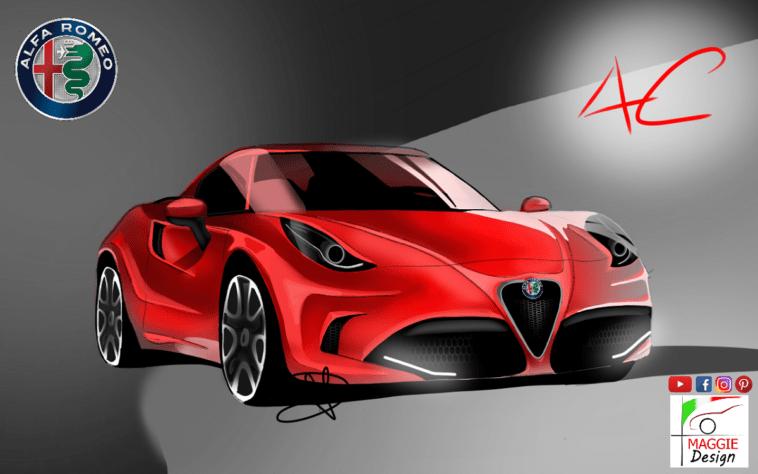 Nuova Alfa Romeo 4C render concept