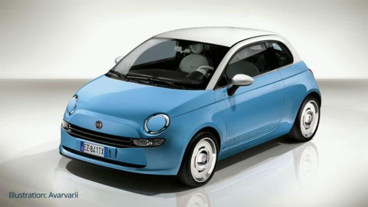 Nuova Fiat 500e render 2020