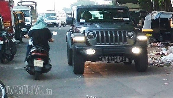 Nuova Jeep Wrangler foto spia India