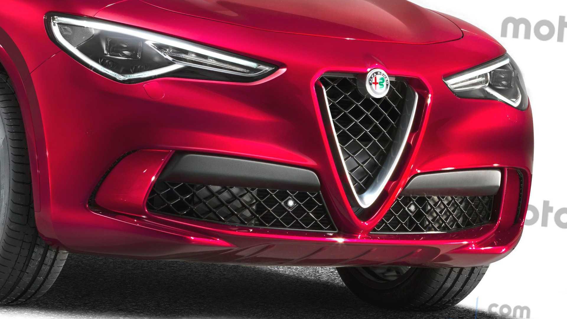 Alfa Romeo Stelvio restyling render