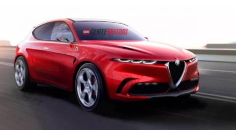 Alfa Romeo Tonale Quadrifoglio Rosso Render 2019