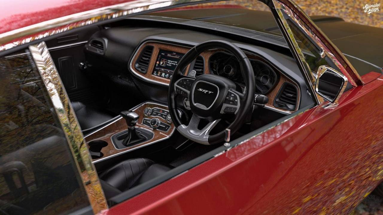 Chrysler Valiant Charger restomod render