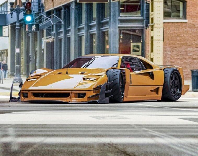 Ferrari F40 render Yasid Design
