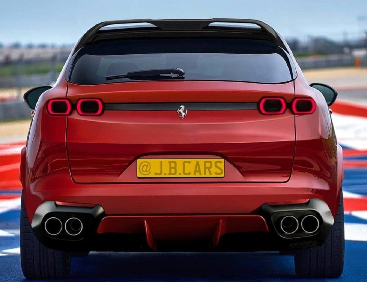 Ferrari Purosangue posteriore render