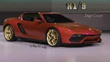 Fiat X1/9 render