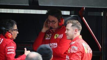Mattia Binotto e Sebastian Vettel