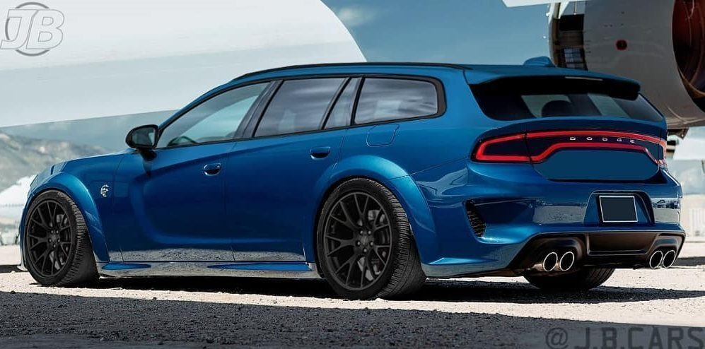 Dodge Charger Hellcat Widebody wagon render