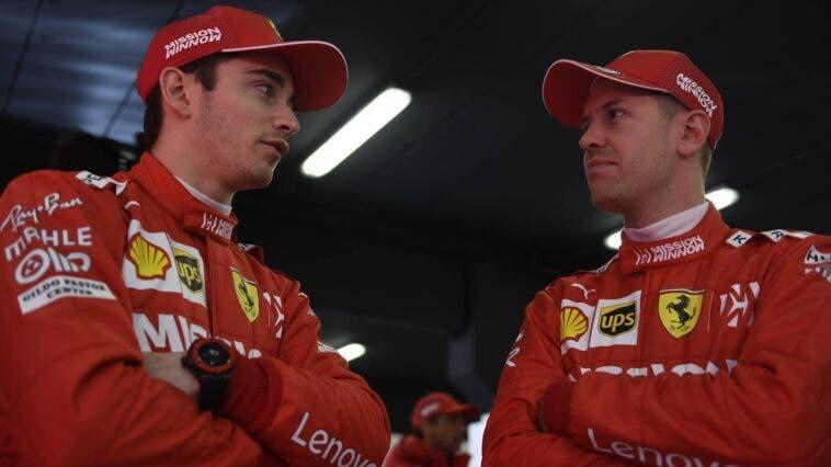 Gran Premio di Gran Bretagna Leclerc Vettel