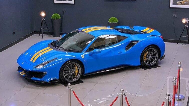 Ferrari 488 Pista Azzurro Dino