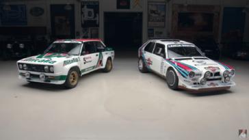 Lancia Delta S4 e Fiat 131 Abarth Jay Leno