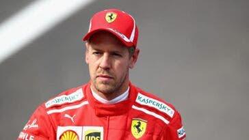Sebastian Vettel in tuta Ferrari