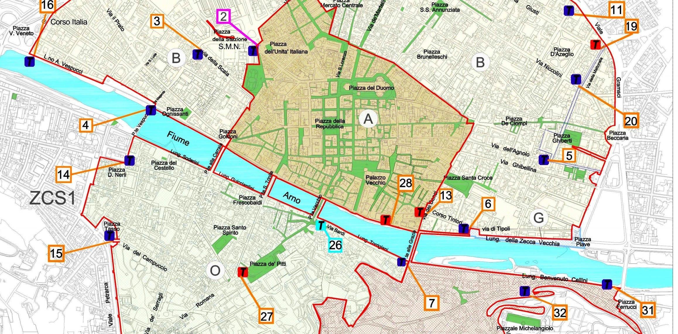 ZTL Firenze mappa