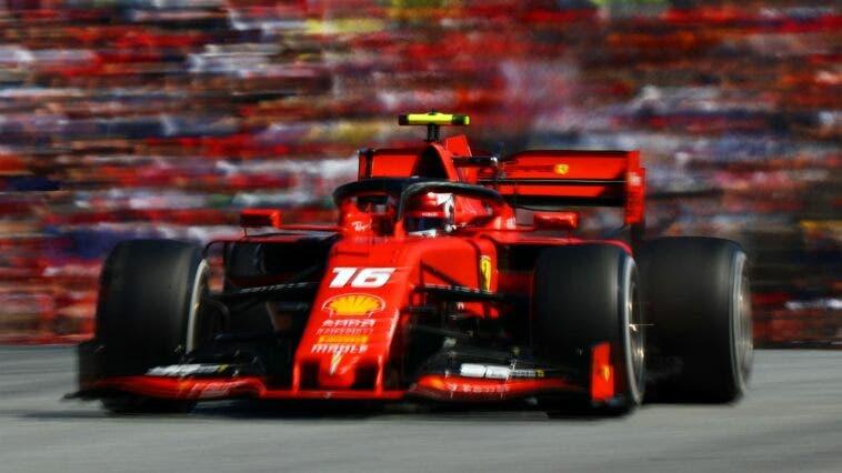 Charles Leclerc su Ferrari SF90
