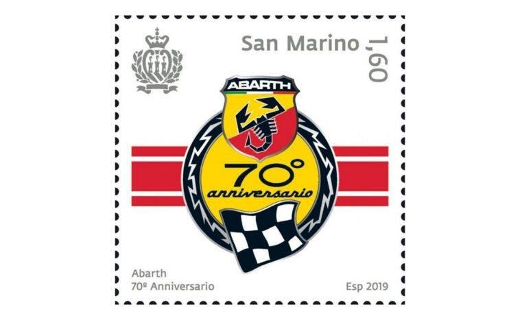 Abarth 70° anniversario francobollo