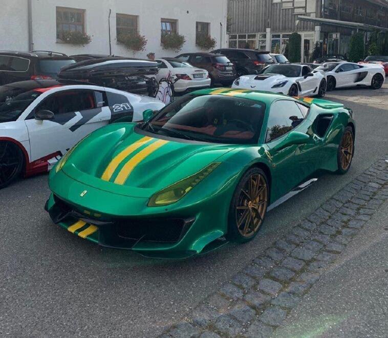 Ferrari 488 Pista verde giallo
